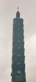 Fasad av det Taipei 101 tornet i Taipei, Taiwan Arkivbild
