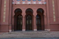 Fasad av domkyrkan med stöpningen Arkivfoton