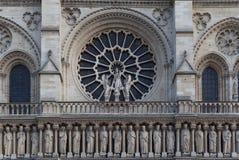 Fasad av domkyrkan Notre Dame de Paris Royaltyfri Bild
