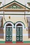 Fasad av en arvbyggnad i York, den äldsta inlands- staden av västra Australien royaltyfria bilder