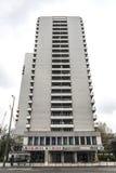 Fasad av en bostads- skyskrapa i Berlin, Tyskland Royaltyfria Foton