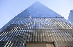 Fasad av en internationell handelmitt i lägre manhattan New York City Arkivbilder