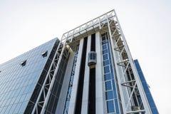 Fasad av en modern kontorsbyggnad i Bryssel, Belgien Arkivbild