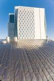 Fasad av en skyskrapa Arkivbilder