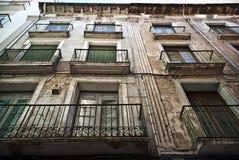 Fasad av ett hus i Barbatro, Spanien Royaltyfri Fotografi