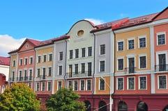 Fasad av ett hus i Minsk Arkivbild