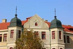 Fasad av europeisk byggnad Royaltyfri Bild