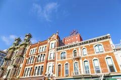 Fasad av historiska hus Royaltyfria Foton