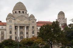 Fasad av hotellet Gellert Budapest Arkivbild