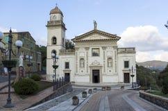 Fasad av kyrkan av St Mary av principen som kallas kyrka Arkivbilder