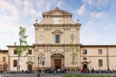 Fasad av kyrkliga San Marco i Florence, Italien Fotografering för Bildbyråer