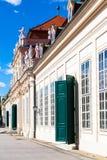 Fasad av lägre slott i belvederen, Wien royaltyfri foto