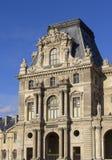 Fasad av Louvre Arkivfoto