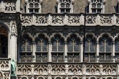 Fasad av Maison du Roi (konungens hus eller Heten Broodhuis) Loca Arkivbild