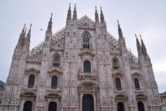 Fasad av Milan Cathedral Royaltyfri Bild