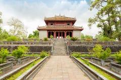 Fasad av Minh Lau Pavilion, hälsningdomstol. Royaltyfri Bild