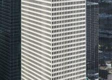 Fasad av moderna byggnader Arkivbild
