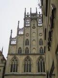 Fasad av Munster Townhalll, Tyskland Arkivfoton