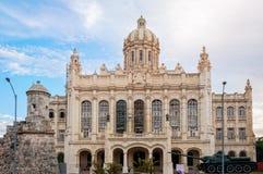 Fasad av museet av revolutionen i den gamla havannacigarren, Kuba Fotografering för Bildbyråer