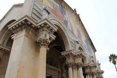 Fasad av nationer för kyrka allra. Jerusalem. Israel arkivfoton