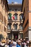 Fasad av Palazzo Madama, plats av den italienska senaten arkivfoto