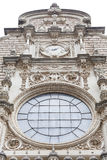 Fasad av Santa Maria de Montserrat Abbey, Spanien Arkivbild