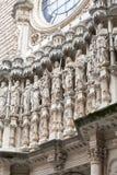 Fasad av Santa Maria de Montserrat Abbey, Spanien Fotografering för Bildbyråer