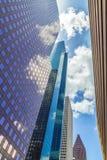 Fasad av skyskrapor i i stadens centrum Houston Royaltyfri Fotografi