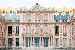 Fasad av slotten av Versailles Royaltyfri Fotografi