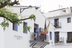 Fasad av stadshuset av AÃn, Castellà ³ n, Spanien royaltyfri fotografi