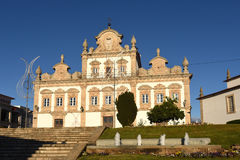 Fasad av stadshuset av Mirandela, Arkivbild
