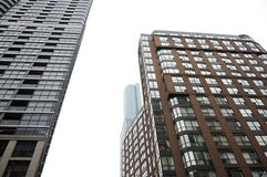 Fasad av svarta glass skyskrapor i i stadens centrum Toronto Arkivfoton