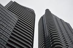Fasad av svarta glass skyskrapor i Toronto Royaltyfria Foton