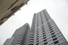 Fasad av svarta glass skyskrapor i Toronto Royaltyfri Bild