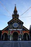 Fasad av träkyrkan Royaltyfri Foto