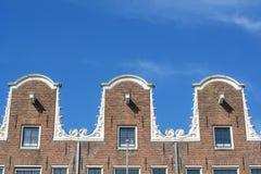 Fasad av typiska holland hus Royaltyfri Foto