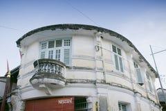 Fasad av UNESCOarvbyggnaden som lokaliseras i den armeniska gatan, George Town, Penang, Malaysia Arkivfoton