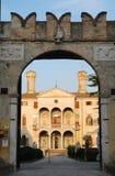Fasad av villan Giustinian i Roncade i landskapet av Treviso i Venetoen (Italien) Arkivfoto