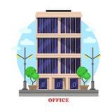 Fasad eller byggnad för arkitektur för affärskontor vektor illustrationer