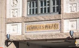 Fasad för amiraler Palast royaltyfri foto