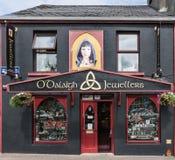 Fasad för nolla-`-Dalaigh juvelerare i Clifden, Irland Fotografering för Bildbyråer