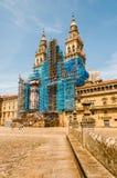 Fasad för strömförsörjning för domkyrka för Santiago` s Royaltyfri Fotografi