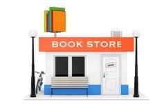 Fasad för Toy Cartoon Book Shop eller boklagerbyggnad renderin 3D royaltyfri illustrationer