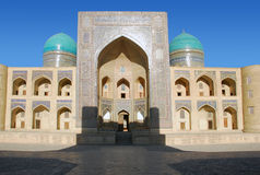 Fasad Miri Arab i Bukhara Royaltyfri Bild