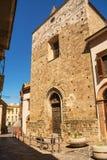 Fasad och ingång till fristaden av det Eucharistic miraklet Arkivbild