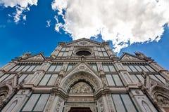Fasad Santa Croce Church Florence Firenze Tuscany Italien Arkivbild