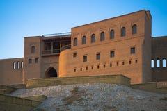Fasada antyczny kasztel w Erbil, fotografia royalty free