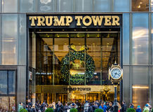 Fasada Atutowy wierza, siedziba prezydenta elekta Donald atut - Nowy Jork, usa Obraz Royalty Free
