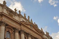 Fasada bazylika święty Peter przy Watykan Zdjęcia Stock