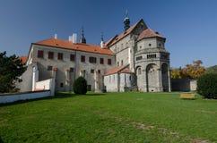 Fasada bazylika St Procopius w Trebic kasztelu, republika czech fotografia stock